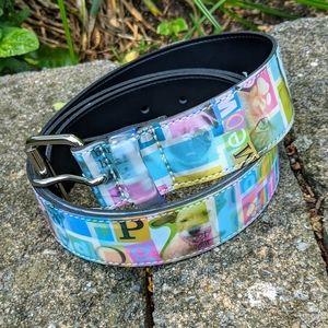 4/$25  Raining cats and dog whimsical belt XL